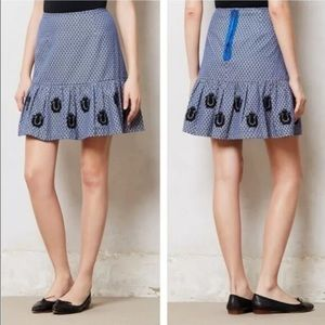 Leifsdottir Cateline Embroidered Beaded Skirt